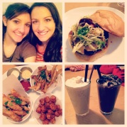 Our dinner at Flip Burger, plus my little sister and I!